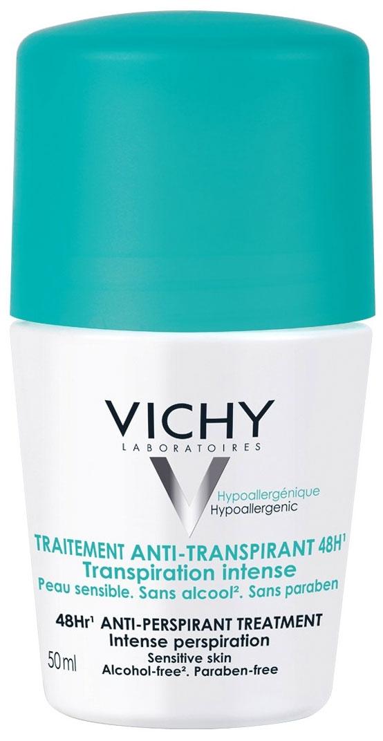 Vichy Дезодорант шариковый, регулирующий избыточное потоотделение, 50 мл17214611Ощущение комфорта, здоровая и чистая кожа в течение 48 часов. Эффективность в течение 48 часов. Каждую последующую неделю применения потоотделение постепенно нормализуется. Не содержит спирта.
