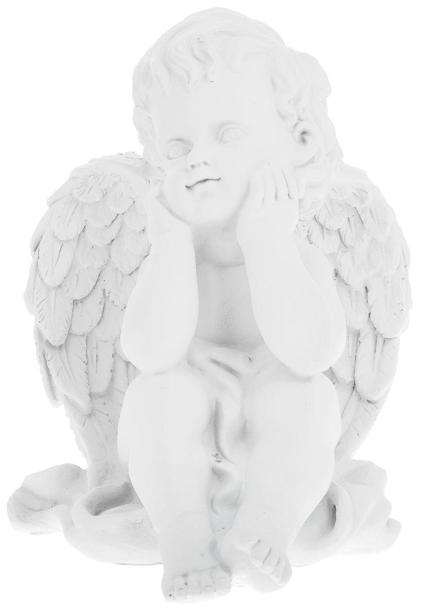 Фигурка декоративная Феникс-Презент Мечтающий ангел, высота 20,5 см40681Фигурка декоративная Феникс-Презент Мечтающий ангел, выполненная из полирезины, станет оригинальным подарком для всех любителей необычных вещей. Она выполнена в классическом стиле в виде мечтающего ангела. Изысканный сувенир станет прекрасным дополнением к интерьеру. Вы можете поставить фигурку в любом месте, где она будет удачно смотреться и радовать глаз.