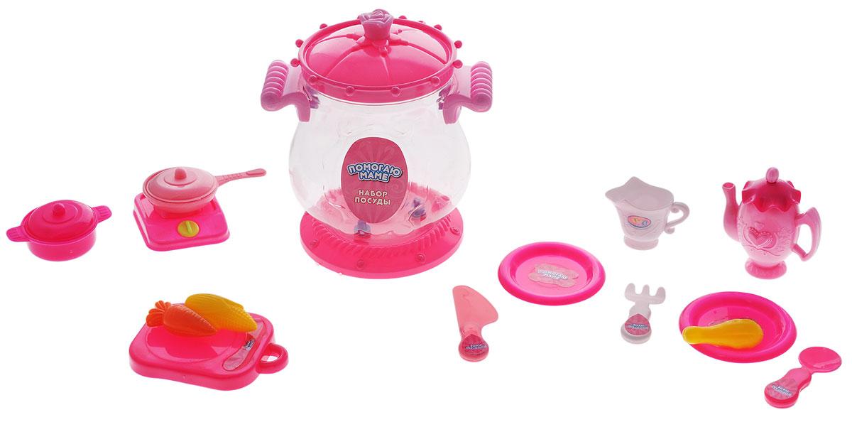 ABtoys Игрушечный набор посуды 16 предметовPT-00403Игрушечный набор посуды ABtoys просто незаменим в кукольном домике. Яркий и современный дизайн посуды делает ее привлекательной и стильной. В набор входят: столовые приборы, муляжи продуктов, плита и другие аксессуары. Посуда будет прекрасно смотреться на кукольной кухне и будет незаменима во время приготовления еды для кукол. Все элементы набора выполнены из качественных и безопасных материалов. Игровые наборы из серии Помогаю Маме развивают фантазию, расширяют кругозор ребенка и помогают развить хозяйственные навыки.