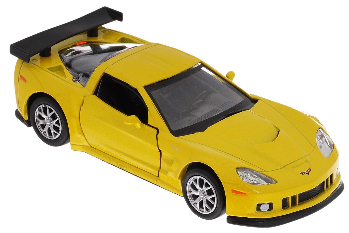 Uni-Fortune Toys Модель автомобиля Chevrolet Corvette C6-R цвет желтый металлик554003Z(E)Модель автомобиля Uni-Fortune Toys Chevrolet Corvette C6-R станет любимой игрушкой вашего ребенка. Благодаря броской внешности, а также великолепной точности, с которой создатели этой масштабной модели передали внешний вид настоящего автомобиля, машинка станет подлинным украшением любой коллекции авто. Машинка оснащена инерционным механизмом. Необходимо отвести ее назад, затем отпустить - и она быстро поедет вперед. Шины обеспечивают отличное сцепление с любой поверхностью пола. Дверцы машинки открываются. Во время игры с такой машиной у ребенка развивается мелкая моторика рук, фантазия и воображение. Машина будет долго служить своему владельцу благодаря металлическому корпусу с элементами из пластика.