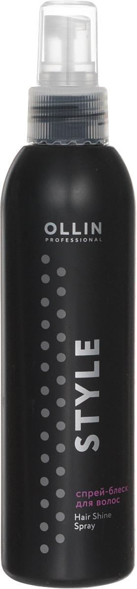 Ollin Спрей-блеск для волос Professional Style Hair Shine Spray 200 мл729735Придает блеск волосам на завершающем этапе укладки. Не утяжеляет.