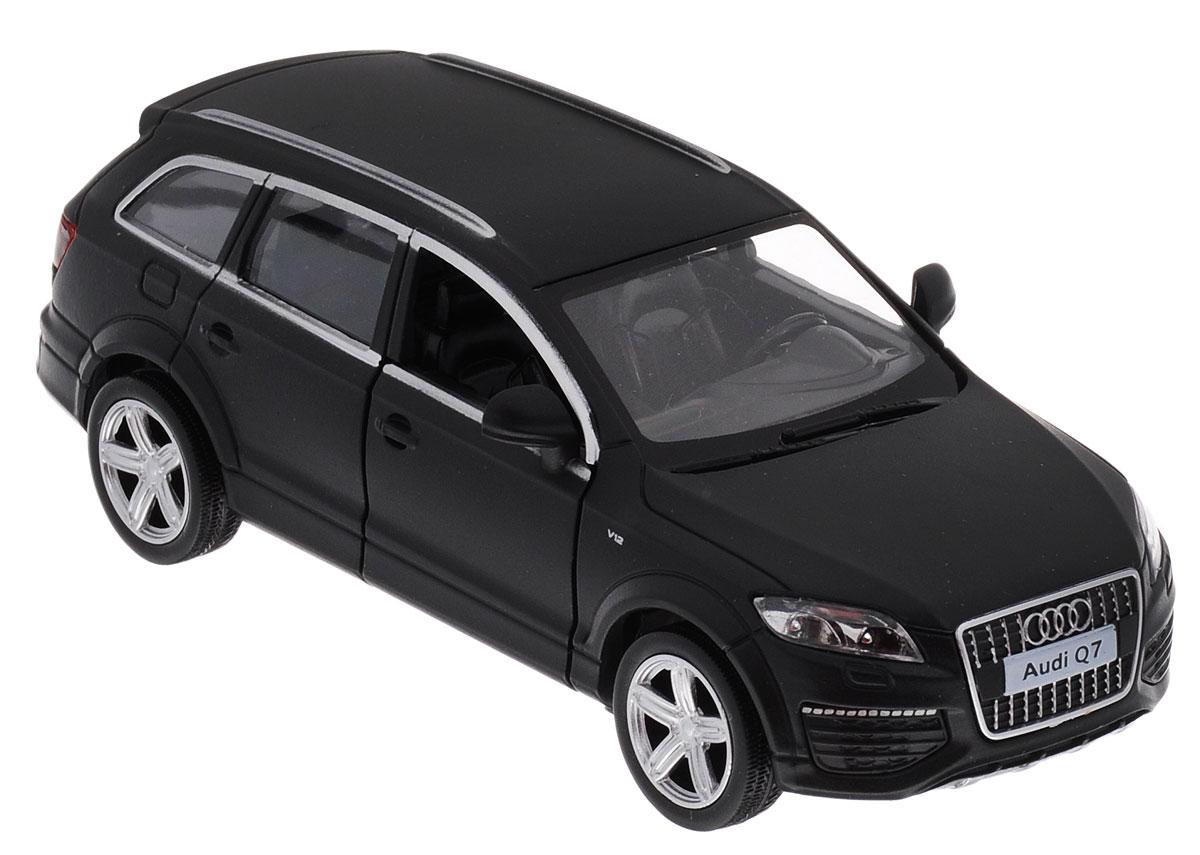 Uni-Fortune Toys Модель автомобиля Audi Q7 V12554016MМодель автомобиля Uni-Fortune Toys Audi Q7 V12 будет отличным подарком как ребенку, так и взрослому коллекционеру. Благодаря броской внешности, а также великолепной точности, с которой создатели этой модели масштабом 1:32 передали внешний вид настоящего автомобиля, машинка станет подлинным украшением любой коллекции авто. Модель будет долго служить своему владельцу благодаря металлическому корпусу с элементами из пластика. Передние двери машины открываются. Машинка обладает инерционным механизмом. Автомобиль необходимо отвести назад, затем отпустить - и он быстро поедет вперед. Шины обеспечивают отличное сцепление с любой поверхностью пола. Модель автомобиля обязательно понравится вашему ребенку и станет достойным экспонатом любой коллекции.
