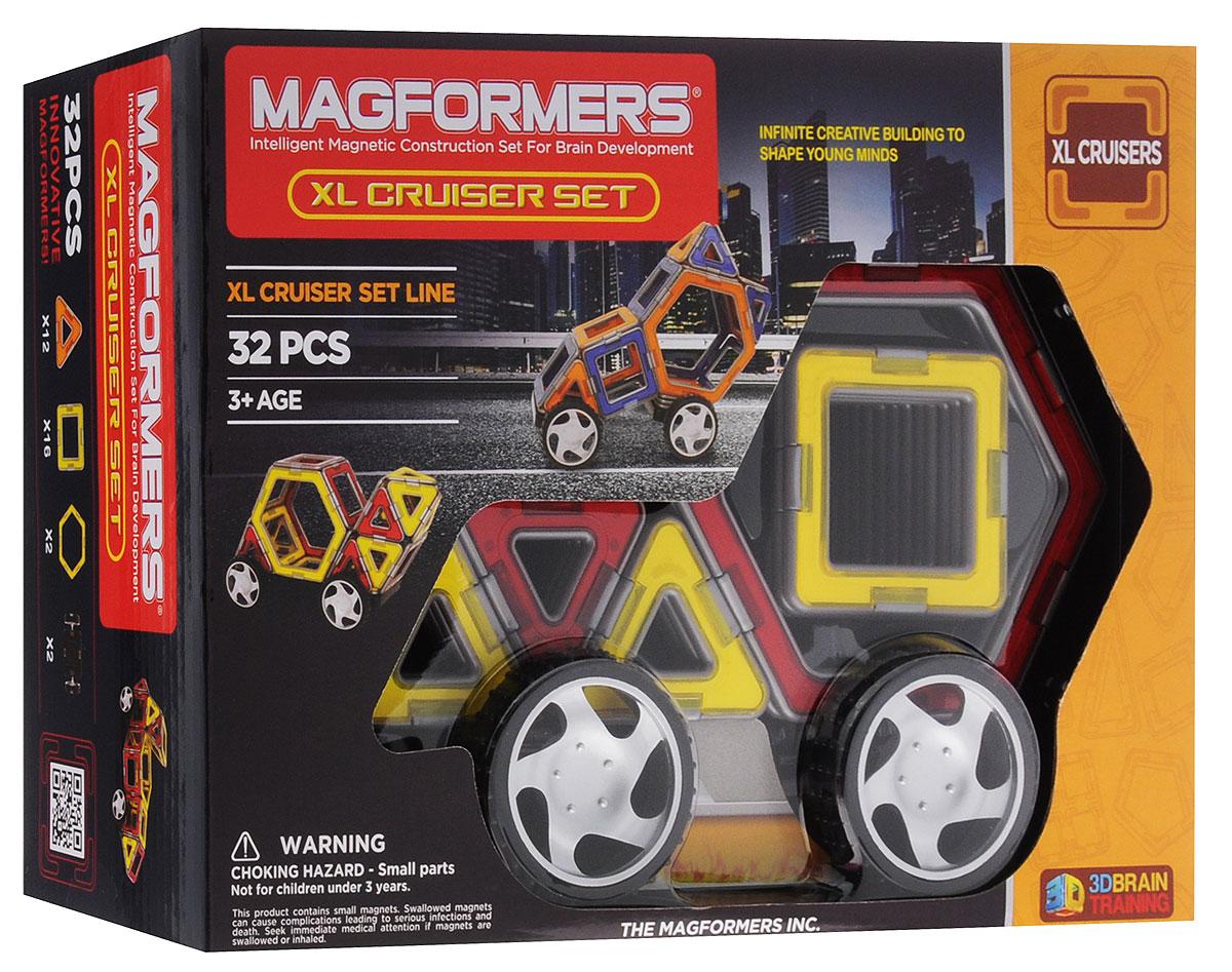Magformers Магнитный конструктор XL Cruiser Set цвет красный желтый63073_красный, желтый/706001В магнитный конструктор Magformers XL Cruiser Set входят 32 детали. Помимо треугольников и квадратов, здесь находятся и шестиугольники, с которыми постройки сразу станут необычнее и интереснее. Ну и конечно, какая машина может быть без колес? В этом наборе вы найдете пару колес, что привнесет в игру мобильность и динамику, и ваш малыш с удовольствием прокатит вас с ветерком на специально для вас изобретенной машине. Этот набор позволяет собрать около 18 моделей машин, непосредственно представленных на коробке и в книге идей. Вы сможете создать как самые простые транспортные средства, так и действительно креативные и необычные. Также можно мастерить и другие шедевры - ракету, лодочку, здания, столы, стулья для своих любимых игрушек! Ваш ребенок сможет проявить фантазию и создать, например, гараж для своих машинок.
