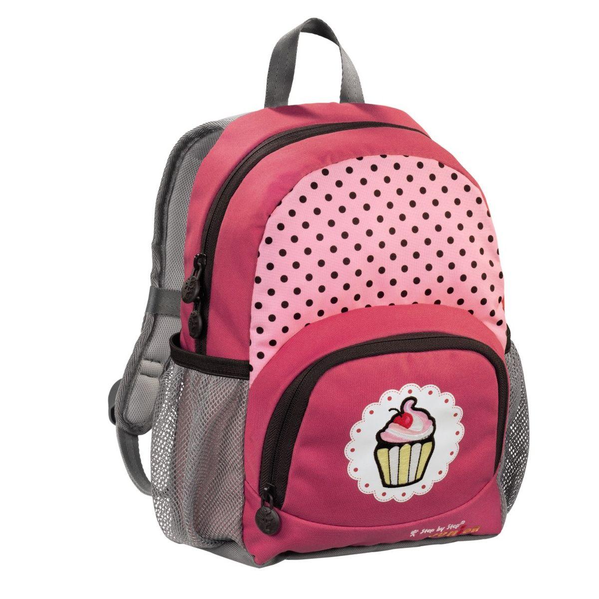 Hama Рюкзак детский Step By Step Junior Dressy Sweet Cake138406Рюкзак детский Step By Step Junior Dressy Sweet cake красный/серый