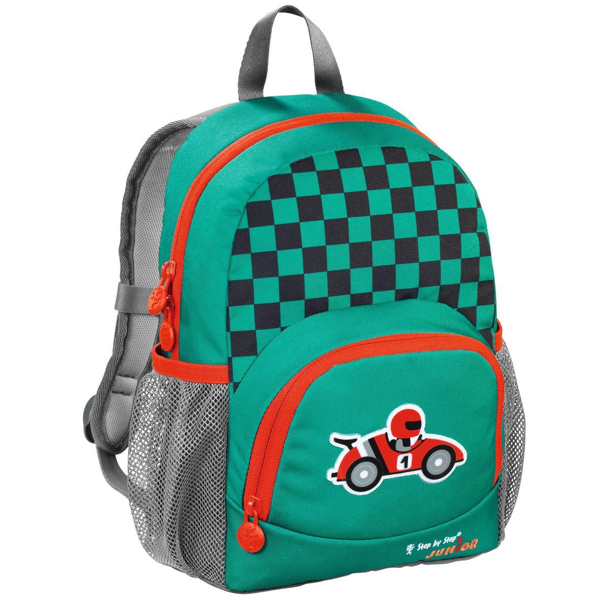 Hama Рюкзак детский Step By Step Junior Dressy Little Racer138410Рюкзак детский Step By Step Junior Dressy little racer зеленый/серый