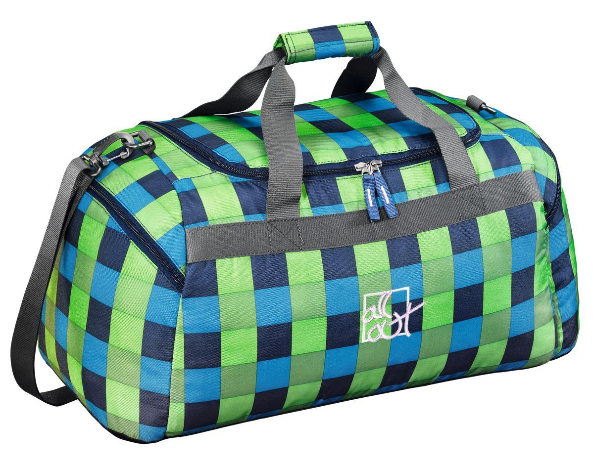 Hama Сумка спортивная All Out Westend цвет зеленый голубой124863Сумка спортивная All Out Westend полиэстер зеленый/голубой