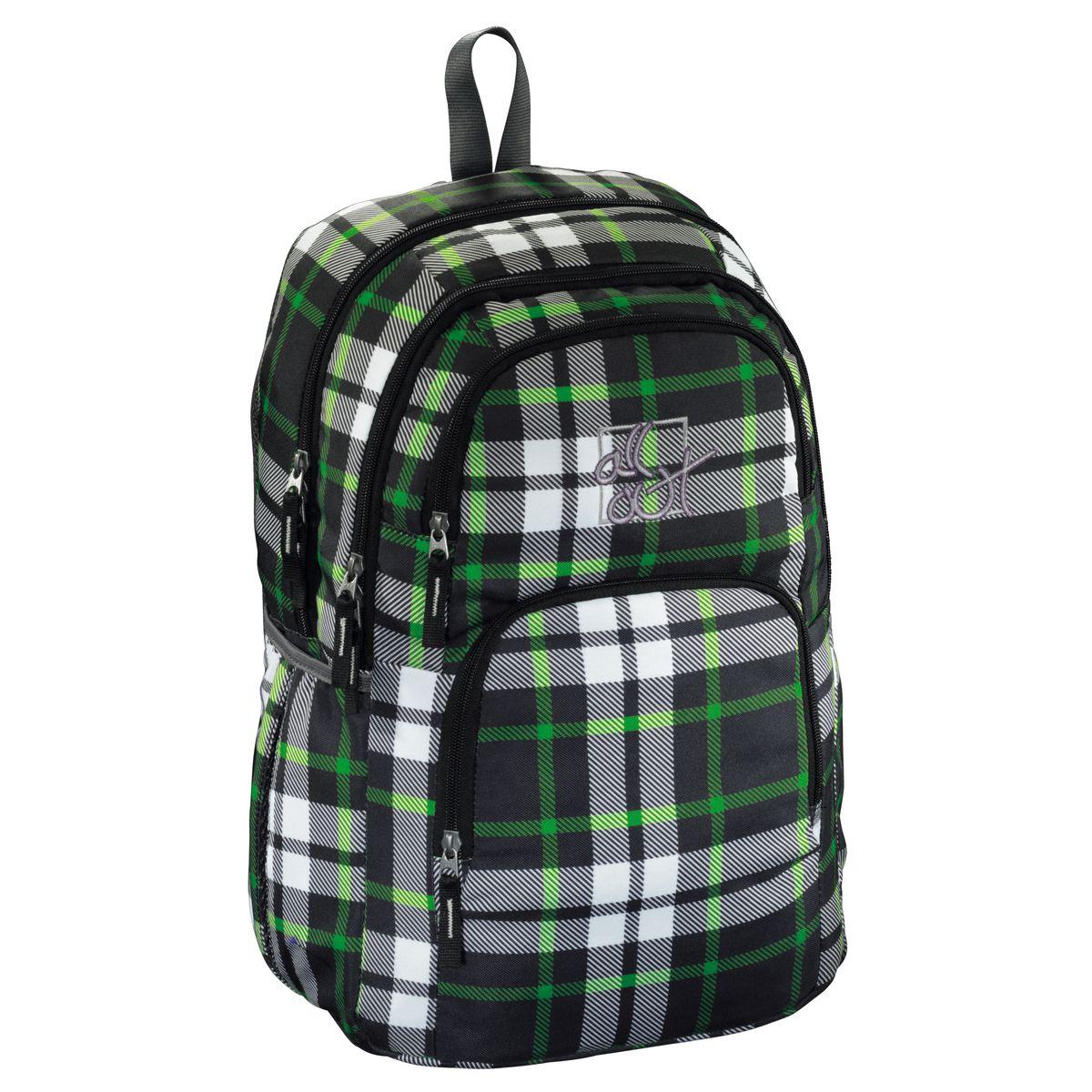 Hama Рюкзак All Out Kilkenny цвет серый зеленый129226Рюкзак All Out Kilkenny серый/зеленый