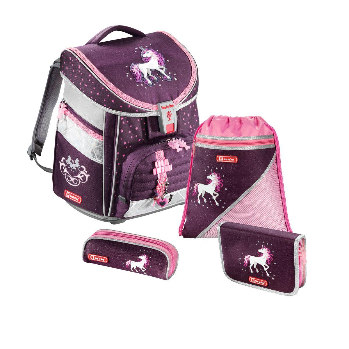 Hama Ранец школьный Step By Step Comfort Unicorn с наполнением129092Ранец Step By Step Comfort Unicorn полиэстер фиолетовый/розовый