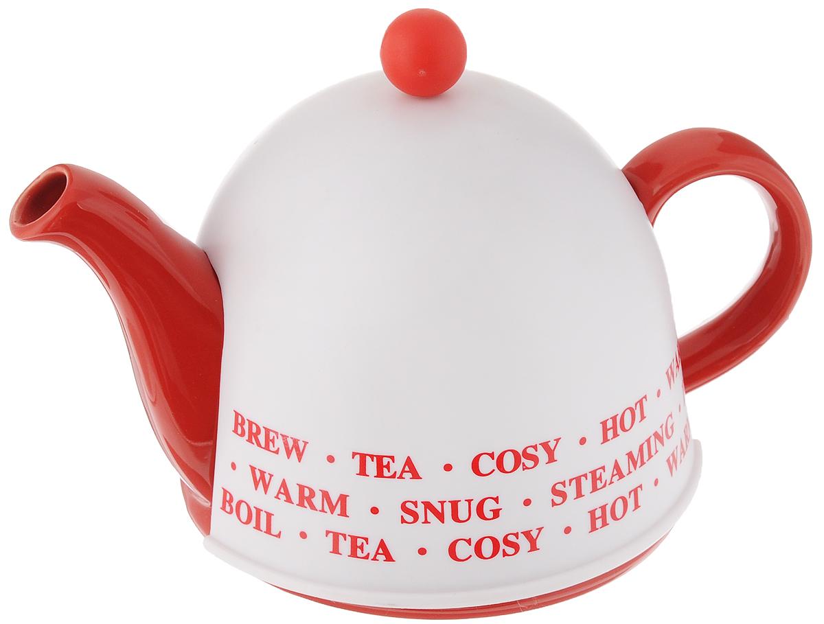 Чайник заварочный Mayer & Boch, с термоколпаком, с фильтром, 800 мл. 2430724307_надписиЗаварочный чайник Mayer & Boch, выполненный из глазурованной керамики, позволит вам заварить свежий, ароматный чай. Чайник оснащен сетчатым фильтром из нержавеющей стали. Он задерживает чаинки и предотвращает их попадание в чашку. Сверху на чайник одевается термоколпак из пластика. Внутренняя поверхность термоколпака отделана теплосберегающей тканью. Он поможет дольше удерживать тепло, а значит, вода в чайнике дольше будет оставаться горячей и пригодной для заваривания чая. Заварочный чайник Mayer & Boch эффектно украсит стол к чаепитию, а также послужит хорошим подарком для ваших друзей и близких. Диаметр чайника (по верхнему краю): 6 см. Диаметр основания чайника: 14 см. Диаметр фильтра (по верхнему краю): 5,5 см. Высота фильтра: 6 см. Высота чайника (без учета термоколпака и крышки): 9,5 см. Размер термоколпака: 15 х 14 х 13,5 см.