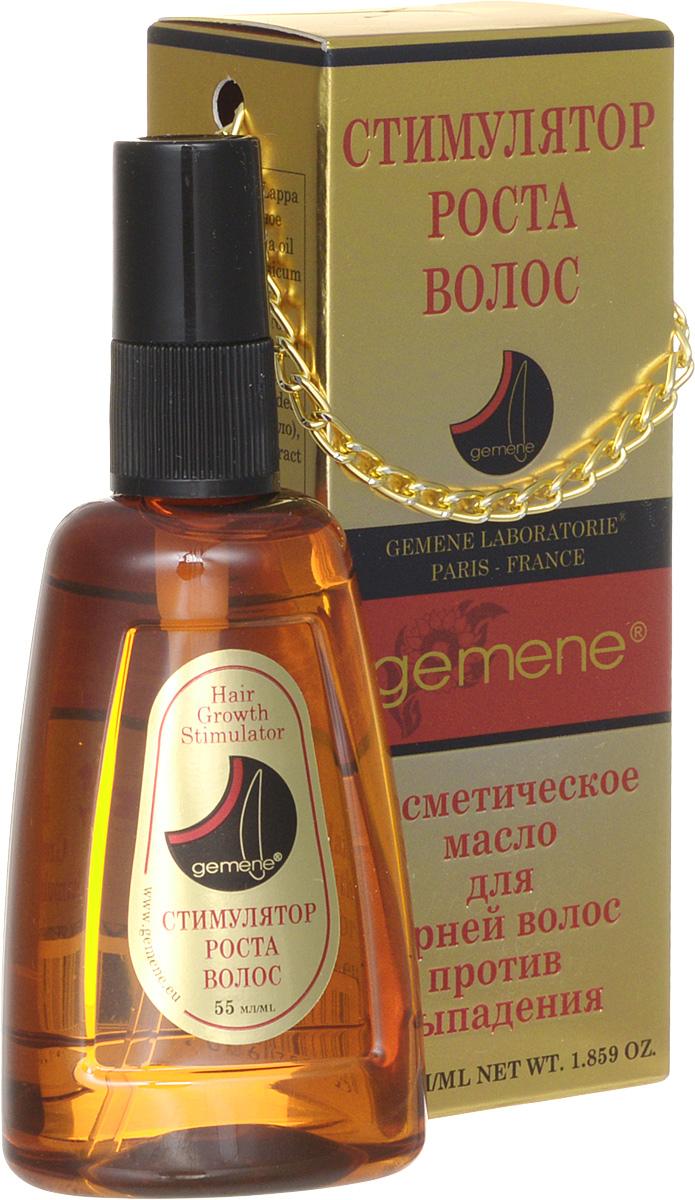Gemene Масло косметическое Стимулятор роста волос, для корней волос, против выпадения, 55 мл