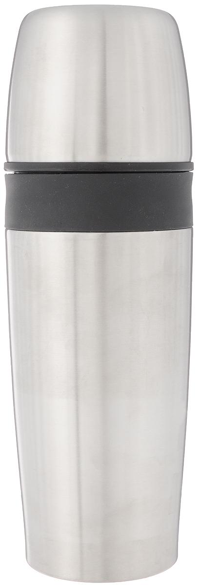 Термос OXO Good Grips, цвет: черный, стальной, 0,7 л1119900Термос OXO Good Grips изготовлен из высококачественной нержавеющей стали. Двойные стенки сохраняют температуру напитков на долгое время, не впитывают запахи и обеспечивают легкую очистку. Три силиконовых уплотнителя предотвращает разбрызгивание. Термос еще удобен и тем, что нет необходимости полностью откручивать пробку. Чтобы налить напиток, просто нажмите кнопку. Крышку можно использовать в качестве кружки, ее внутренняя поверхность отделана пластиком, гигиенична и легка в очистке. Удобный, компактный и практичный термос пригодится в путешествии, походе и поездке. Диаметр горлышка: 7 см. Диаметр основания термоса: 7,5 см. Высота термоса: 26 см.