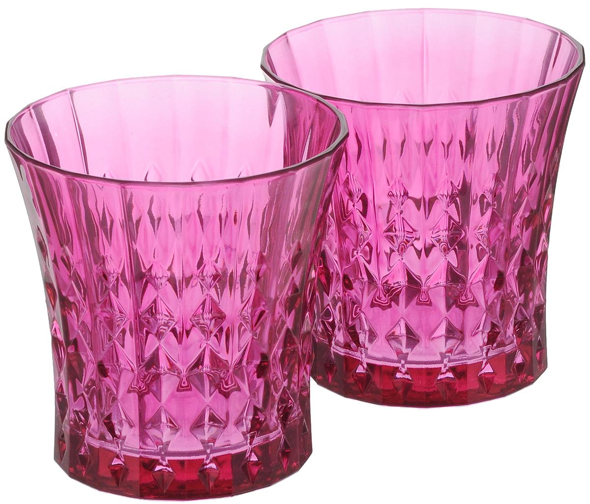 "Набор стаканов Cristal d'Arques ""Lady Diamond"", цвет: розовый, 270 мл, 2 шт"