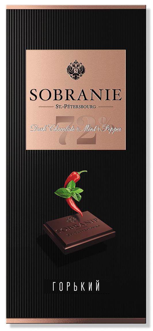 Sobranie горький шоколад с кайенским перцем и мятой, 90 г ( 14.0737 )