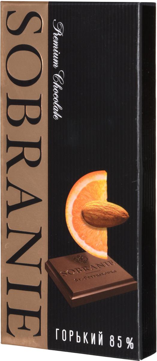 Sobranie горький шоколад с апельсином и орехами, 45 г
