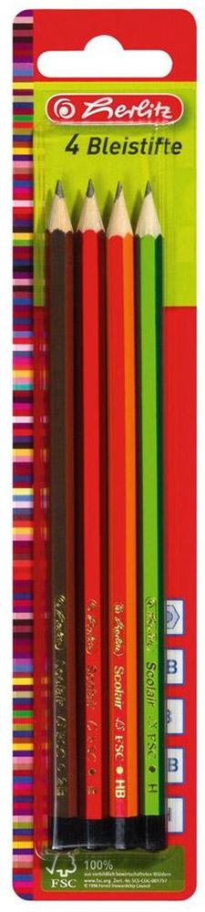 Herlitz Набор чернографитных карандашей 4 шт 8670051