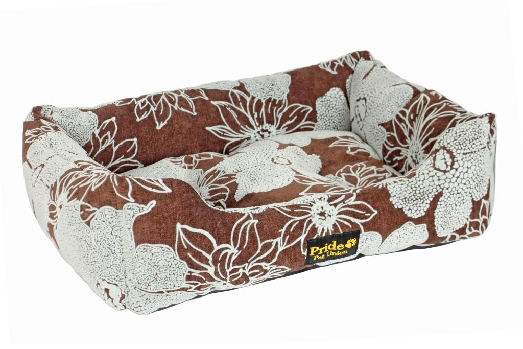 Лежак Pride Флора, цвет: коричневый, 70х60х23 см10011232