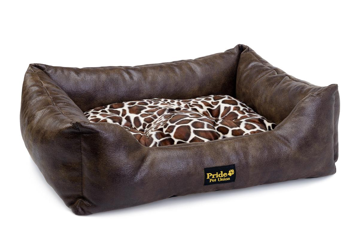 Лежак для животных Pride Президент, цвет: коричневый, 60 х 50 х 18 см10012111Уютный лежак для животных Pride Президент обязательно понравится вашему питомцу. В нем питомец будет счастлив, так как лежак очень мягкий и приятный. Он будет проводить все свое свободное время в нем, отдыхать, наслаждаясь удобством. Лежак выполнен из искусственной кожи, также имеется подушка, которая легко вынимается и ее можно использовать отдельно.