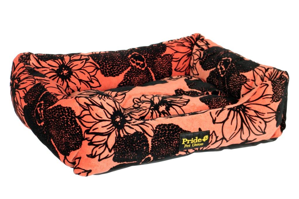 Лежак для животных Pride Флора, цвет: коралловый, 70 х 60 х 23 см10012242Лежак Pride Флора непременно станет любимым местом отдыха вашего домашнего животного. Изделие выполнено из высококачественного хлопка, а наполнитель - из полиэфирного волокна. Такой материал не теряет своей формы долгое время. На таком лежаке вашему любимцу будет мягко и тепло. Он подарит вашему питомцу ощущение уюта и уединенности.