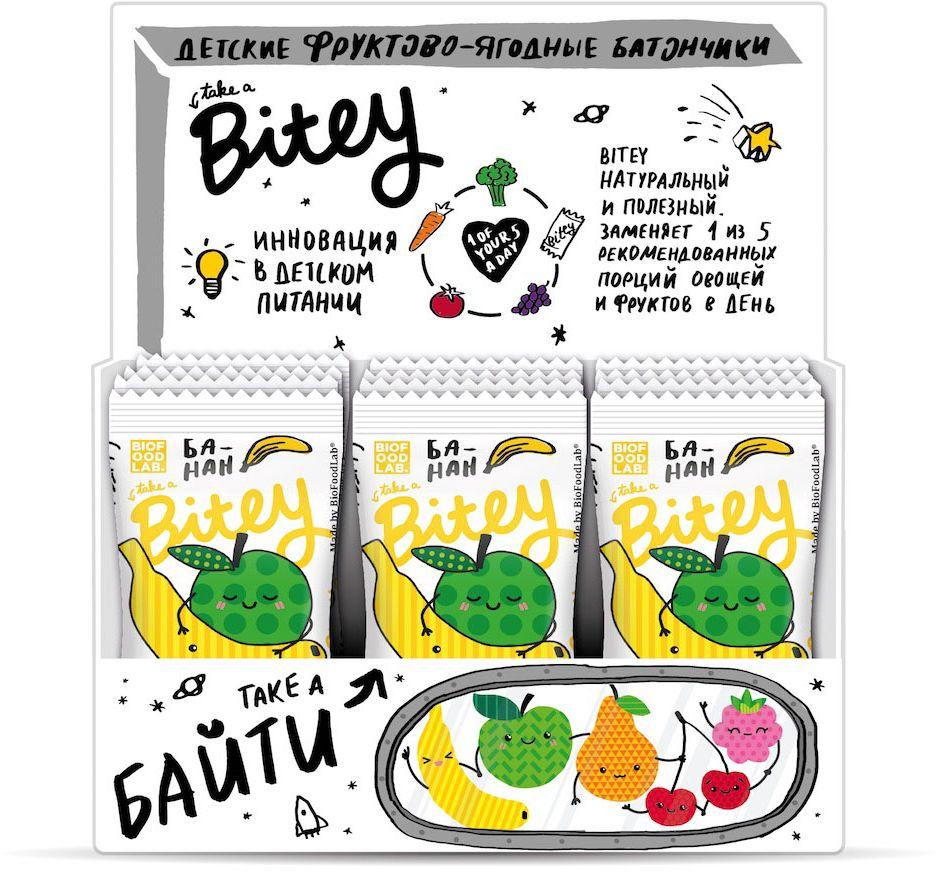 Take A Bitey Банан батончик орехово-фруктовый, 30 шт х 25 г4650062591242Абсолютно натуральный перекус из банана и яблок для маленьких открывателей. В каждом батончике удивительное сочетание полезных фруктов и ягод, которое придется по вкусу начинающим гурманам. Только фрукты, ягоды и злаки!