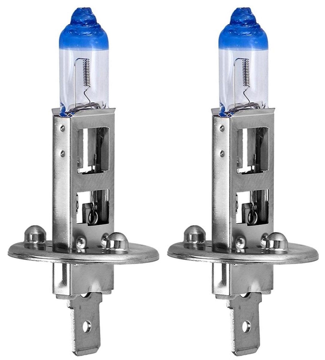 Лампа автомобильная галогенная Philips X-tremeVision, для фар, цоколь H1 (P14.5s), 12V, 55W, 2 шт12258XV+S2Галогенная лампа для автомобильных фар Philips X-tremeVision изготовлена из запатентованного кварцевого стекла с УФ-фильтром Philips Quartz Glass. Кварцевое стекло в отличие от обычного стекла выдерживает гораздо большее давление и больший перепад температур. При попадании влаги на работающую лампу, лампа не взрывается и продолжает работать. Автомобильные лампы Philips X-tremeVision обладают повышенной яркостью, обеспечивая на 130% больше света на дороге. Такие лампы позволяют увеличить видимость перед автомобилем на 45 метров, благодаря чему вы можете видеть дальше, реагировать быстрее и водить безопаснее. Яркий белый свет (3700K) на 20% белее света стандартных ламп головного освещения. Запатентованная технология Philips Gradient Coating обеспечивает более мощный световой поток, максимальную яркость и невероятный комфорт в темное время суток. Лампы Philips X-tremeVision созданы для долгой и надежной службы. Они гарантируют хороший обзор и видимость на...