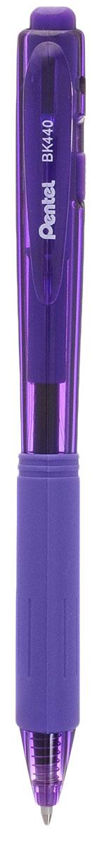 Шар.ручка авт. фиолет. стержень 1.0 мм трехгран.корпус