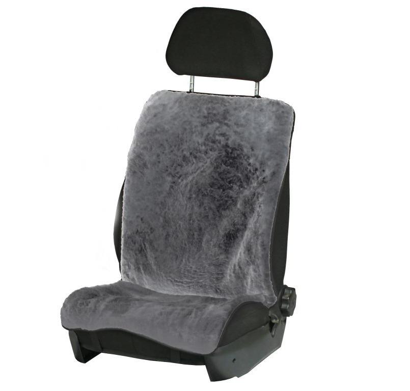 Накидка на переднее сиденье Airline, из натурального меха, цвет: серыйAFC-SH-02Накидка Airline предназначена для защиты обивки автомобильных сидений от истирания. Она выполнена из натурального овечьего меха с коротким ворсом. Универсальная система крепления позволяет применять изделие на все модели автомобилей. Особенности: Теплый зимой. Универсальный размер. Подходит как на водительское, так и на переднее пассажирское сидение.