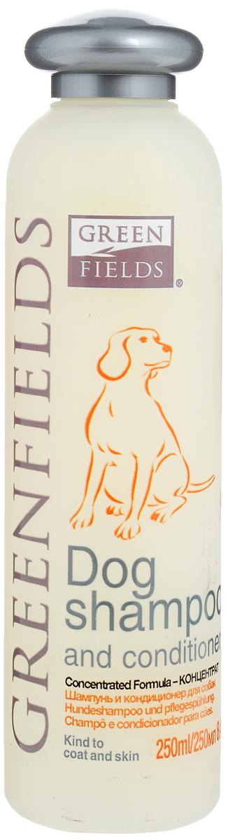 Шампунь-кондиционер для собак Greenfields, концентрат, 250 мл8718836721908Шампунь-кондиционер для собак Greenfields - гипоаллергенный шампунь, специально разработанный для профессионального ухода за кожей и шерстью взрослых собак. Шампунь концентрированный. Расход шампуня в 10 раз меньше обычных шампуней. Шампунь и кондиционер в одном флаконе восстанавливает структуру шерсти и увлажняет кожу за счет входящего в состав гидролизованного протеина шелка. Благодаря этому шампунь укрепляет кожу и шерсть, обладает хорошими пенкообразующими и увлажняющими свойствами. За счет входящих в состав шампуня производных жироподобного секрета железы лебедей, сохраняет эластичность волоса, предохраняет шерсть и кожу от негативных воздействий окружающей среды (намокание во время дождя, защита от пыли, песка и грязи). Компоненты раковины моллюсков насыщают кожу и шерсть важнейшими микроэлементами: железо, кальций, фосфор, витамины А, В, С, Е. Благодаря адсорбирующим свойствам устраняет запах и придает приятный аромат. Способ...
