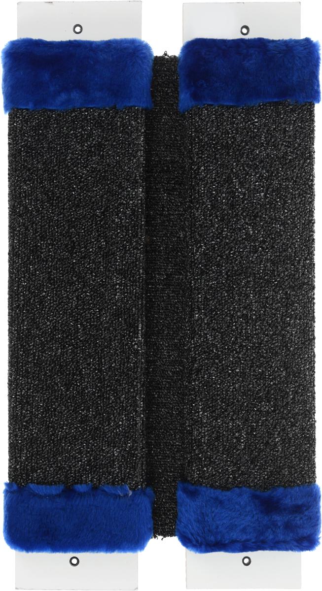 Когтеточка ЗооМарк, настенная, угловая, цвет: синий, 57 х 30 х 3,5 см002_синий, серыйУгловая когтеточка ЗооМарк предназначена для стачивания когтей вашей кошки и предотвращения их врастания. Волокна ковролина обеспечивает естественный уход за когтями питомца. Когтеточка позволяет сохранить неповрежденными мебель и другие предметы интерьера. Угловая когтеточка может крепиться на смежных поверхностях стен и пола. Длина когтеточки: 57 см. Длина рабочей части: 48 см.