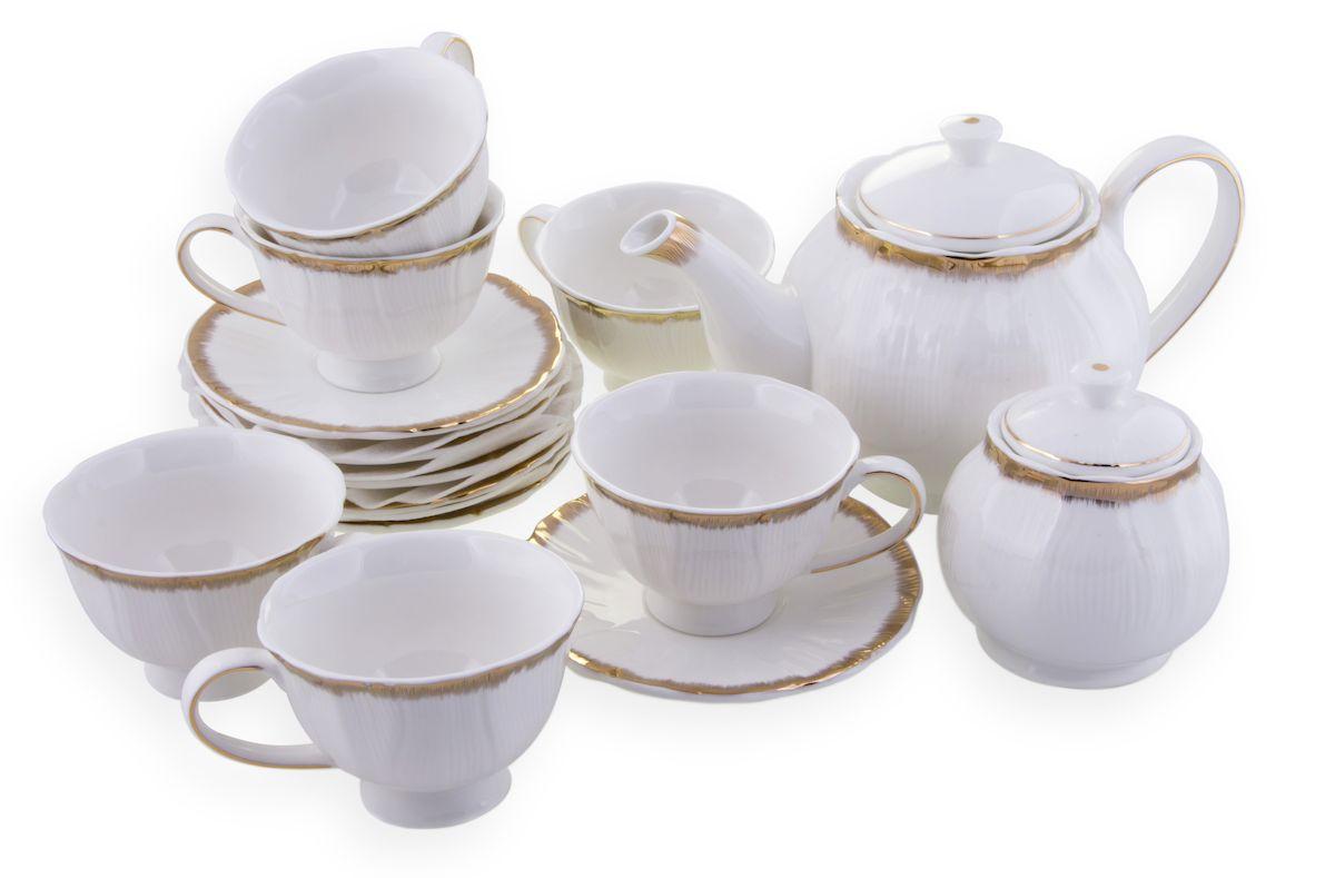 Чайный набор Rosenberg, 14 предметов, 240мл. 870777.858@22973чайный набор, 14 предметов, чашка 150мл блюдце 14 х 14 см чайник 1000мл сахарница 300г