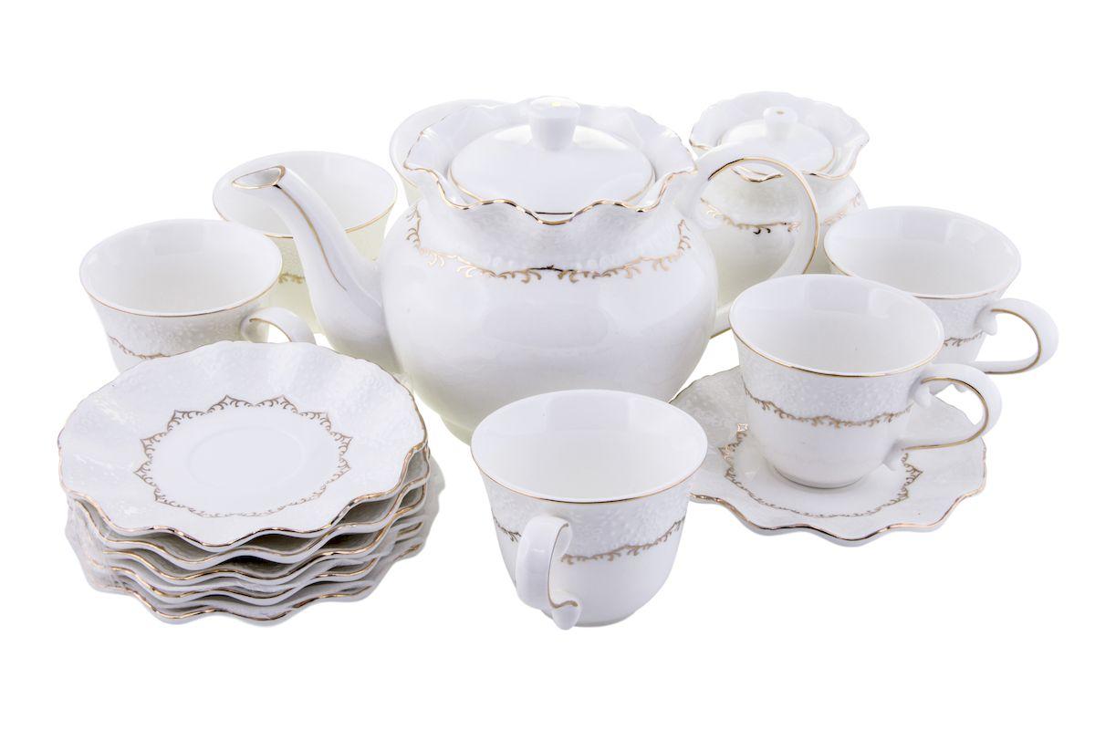 Чайный набор Rosenberg, 14 предметов, 220мл. 870977.858@22976чайный набор, 14 предметов, чашка 200мл блюдце 14 х 14 см чайник 1400мл сахарница 300мл