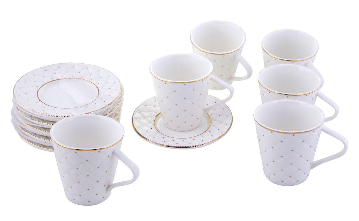 Чайный набор Rosenberg, 12 предметов, 250мл. 871077.858@22978чайный набор, 12 предметов, чашка 175 мл блюдце 13 х 13 см