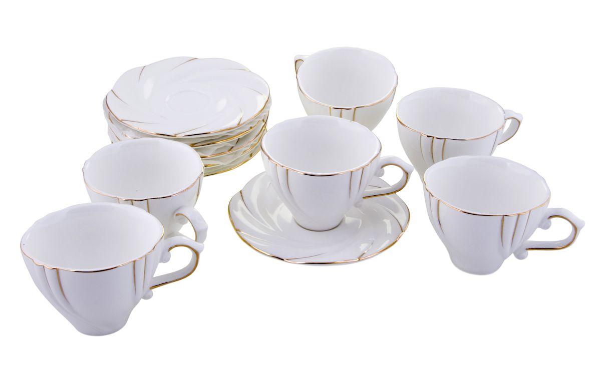 Чайный набор Rosenberg, 12 предметов, 200мл. 872077.858@22990чайный набор, 12 предметов, чашка 175 мл блюдце 14 х 14 см