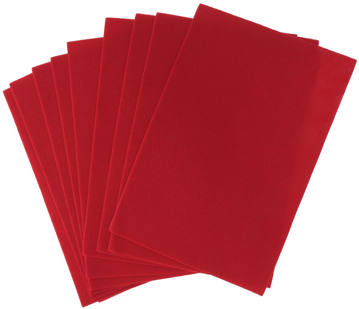 Фетр клеевой Hobby&You, цвет: красный (016), 20 х 30 см686523_016 красныйКлеевой фетр Hobby&You изготовлен из 100% полиэстера. Благодаря клеевому слою, легко приклеивается. Лист фетра можно использовать целиком или вырезать из него различные фигуры. Работать с фетром просто и удобно: он легко режется, не осыпаясь по краям, из него получаются отличные аппликации. Фетр используется для изготовления открыток ручной работы и скрап-страничек, для создания бижутерии и аксессуаров для волос, для декора мебели, изготовления ковриков, диванных подушек, подставок под горячее, сумок и многого другого. Толщина: 1,4 мм. Размер листа: 20 х 30 см.