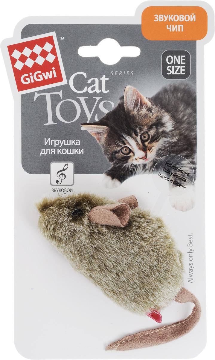Игрушка для кошек GiGwi Мышка, музыкальная75101Игрушка для кошек GiGwi Мышка, изготовленная из мягкого искусственного меха в виде симпатичной мышки, не позволит заскучать вашему пушистому питомцу. Игрушка снабжена звуковым чипом: при касании лапами игрушка издает звуки, похожие на пищание мышек. Играя с этой забавной игрушкой, маленькие котята развиваются физически, а взрослые кошки и коты поддерживают свой мышечный тонус. Такая игрушка порадует вашего любимца, а вам доставит массу приятных эмоций, ведь наблюдать за игрой всегда интересно и приятно. Размер игрушки: 8 х 4,5 х 4 см. Длина игрушки (с учетом хвоста): 15 см.