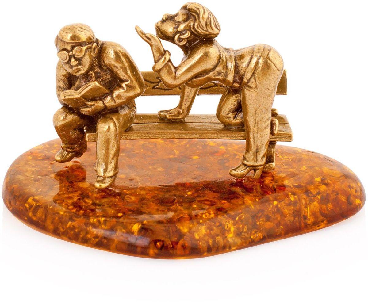 Фигурка декоративная Гифтман Лавка любви, материал: латунь, искусственный янтарь. Ручная работа. 5220852208Фигурка на янтаре.