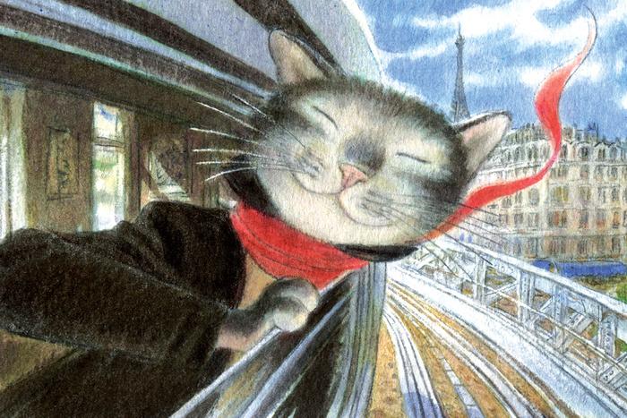 Открытка Солнечный денек. Из набора «Парижский Кот-художник». Автор: Андрей АринушкинAA10-023Оригинальная дизайнерская открытка «Солнечный денек» Из набора «Парижский Кот-художник» выполнена из плотного матового картона. На лицевой стороне расположена репродукция картины художника Андрея Аринушкина с изображением счастливого кота, выглядывающего из окна поезда Парижского метро. Такая открытка станет необычным подарком или оригинальным почтовым посланием, которое, несомненно, удивит получателя своим дизайном и подарит приятные воспоминания.