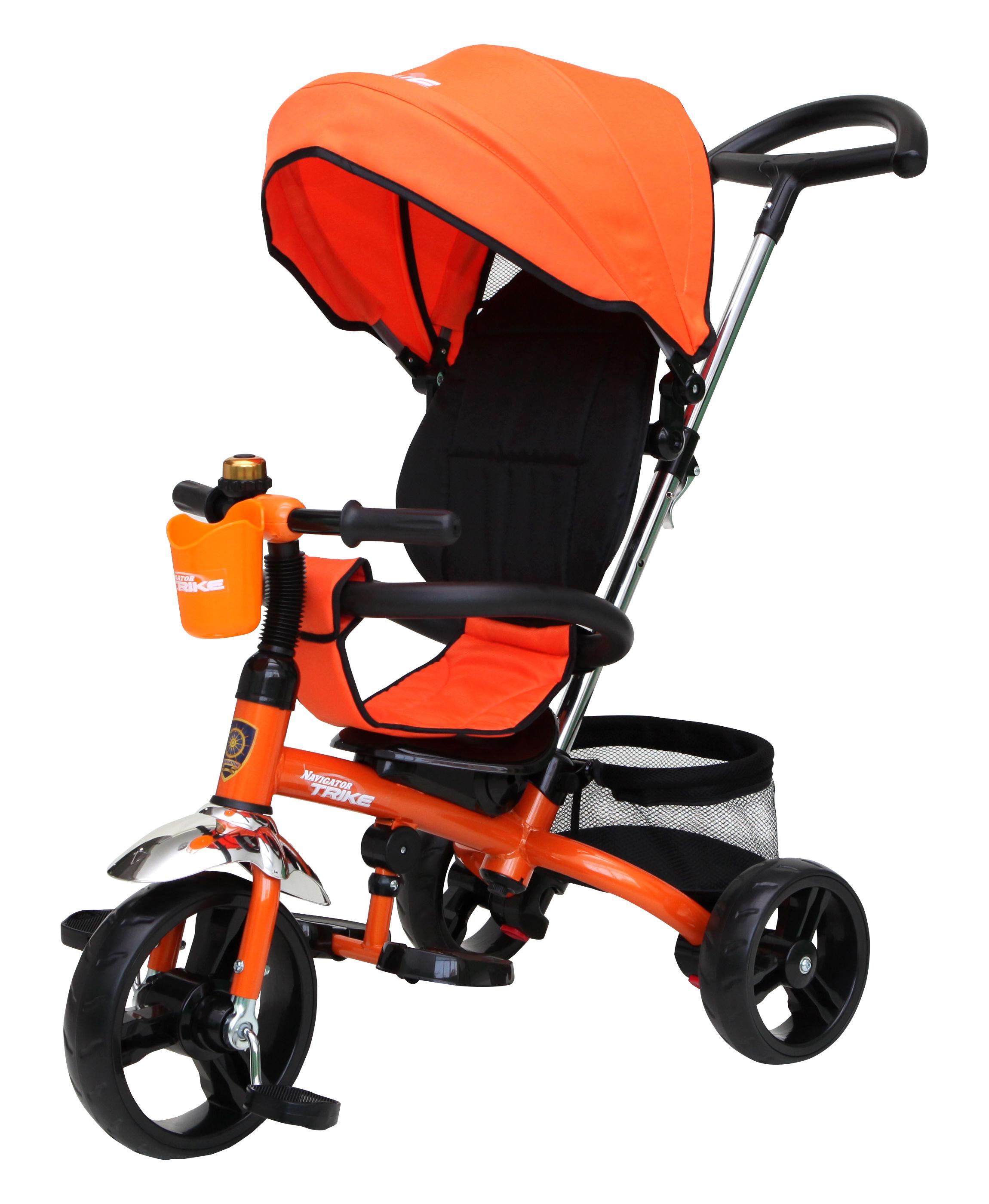 Navigator Трехколесный велосипед Lexus цвет черный оранжевыйТ58450Популярная модель детского трехколесного велосипеда с ярким дизайном. Велосипед снабжен ручкой управления для родителей.