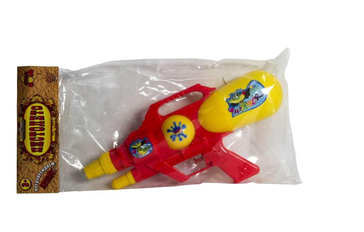 Тилибом Водный бластер с 2 отверстиями 30 х 15 смТ80496Яркий водный пистолет, готовый стать прекрасным развлечением для вас и ваших детей в жаркий солнечный день лета. Для его использования не требуется много усилий - просто залейте в емкость воду, после чего пистолет готов стрельбе.