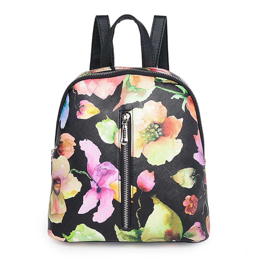 Рюкзак женский Ors Oro, цвет: акварель. D-176/54D-176/54Рюкзак с одним отделением, на молнии, один передний карман на молнии. Внутренний карман на молнии, карман для телефона