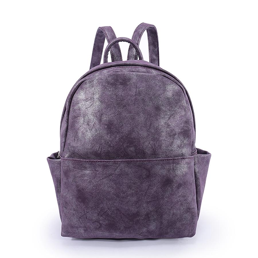 Рюкзак женский Orsa Oro, цвет: фиолетовый. D-181/2D-181/2Стильный женский рюкзак Orsa Oro выполнен из экокожи. Рюкзак имеет одно основное отделение, которое закрывается на застежку-молнию. Внутри находятся прорезной карман на застежке-молнии и три накладных открытых кармана. Снаружи, на передней стенке находится нашивной карман на застежке-молнии, по бокам - накладные открытые карманы, на задней стенке - прорезной карман на застежке-молнии. Рюкзак оснащен лямками регулируемой длины и ручкой для переноски в руке.