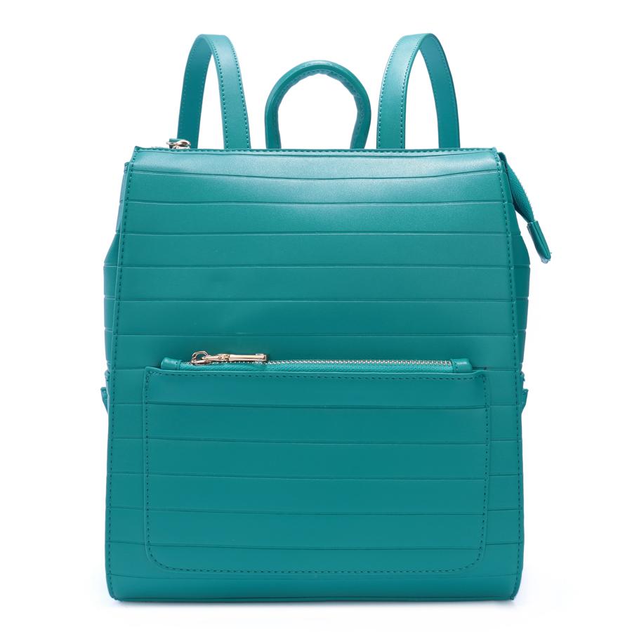 Рюкзак женский Ors Oro, цвет: бирюзовый. D-190/6D-190/6Сумка-рюкзак на молнии с одним отделением, передний карман на молнии, задний карман на молнии, два плоских боковых кармана, внутренний карман на молнии, карман для телефона