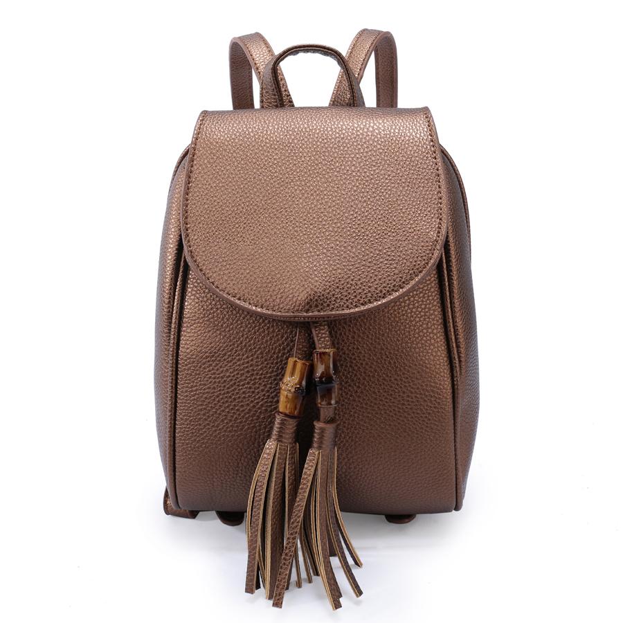 Рюкзак женский Ors Oro, цвет: бронзовый. D-172/7D-172/7Рюкзак с двумя отделениями на молнии,с клапаном на магнитной кнопке, плоский передний кармана. Внутренняя перегородка на молнии, внутренний карман на молнии, карман для телефона, задний карман на молнии
