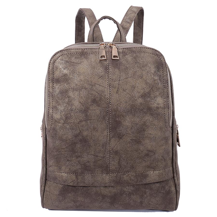Рюкзак женский Ors Oro, цвет: бронзовый. D-182/7D-182/7Рюкзак с одним отделением, на молнии, один передний карман на молнии, два боковых кармана на молнии. Внутренний карман на молнии, карман для телефона, задний карман на молнии