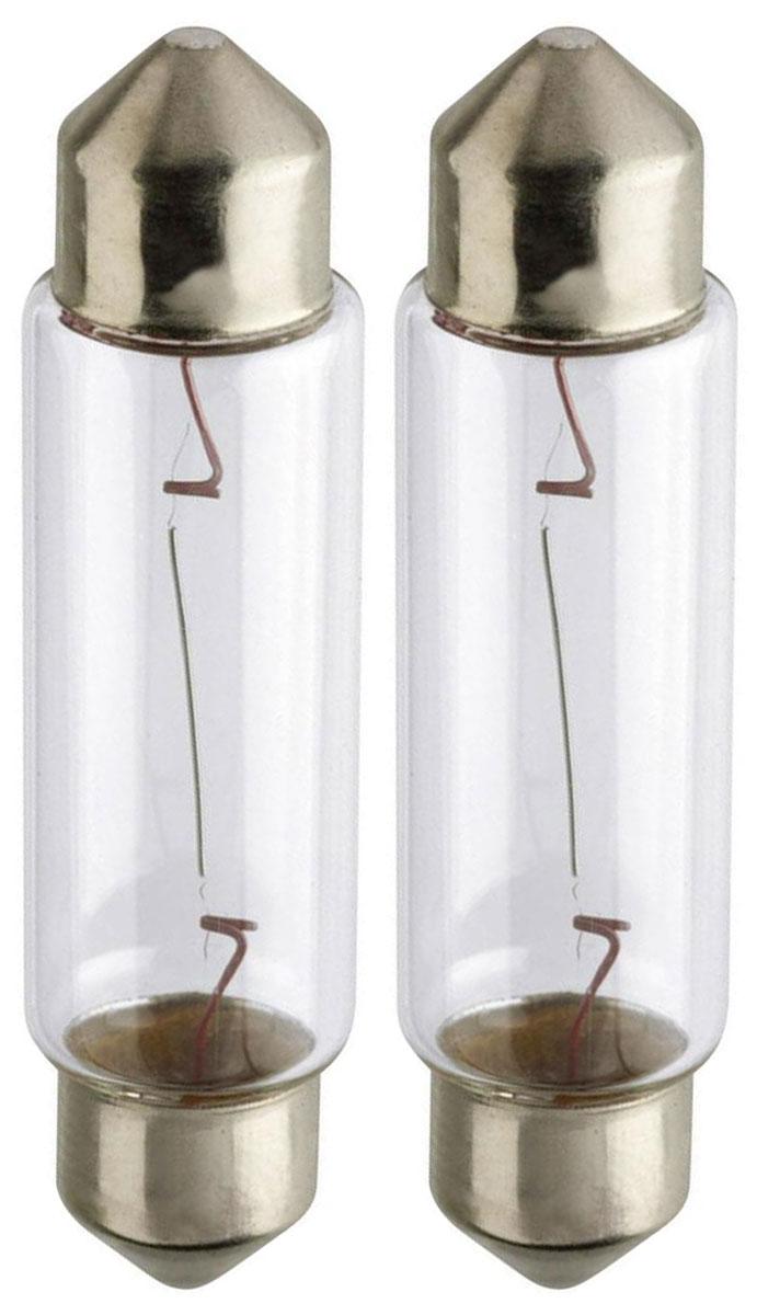 Лампа автомобильная Philips Vision, для салона, цоколь Festoon T10,5x43 (SV8.5), 12V, 10W, 2 шт12866B2 (бл.)Автомобильная лампа Philips Vision изготовлена из запатентованного кварцевого стекла с УФ- фильтром Philips Quartz Glass. Кварцевое стекло в отличие от обычного стекла выдерживает гораздо большее давление и больший перепад температур. При попадании влаги на работающую лампу, лампа не взрывается и продолжает работать. Лампа Philips Vision производит на 30% больше света по сравнению со стандартной лампой, благодаря чему стоп-сигналы или указатели поворота будут заметны с большего расстояния. Лампа Philips Vision отличается высокой эффективностью, соответствуя всем современным требованиям.