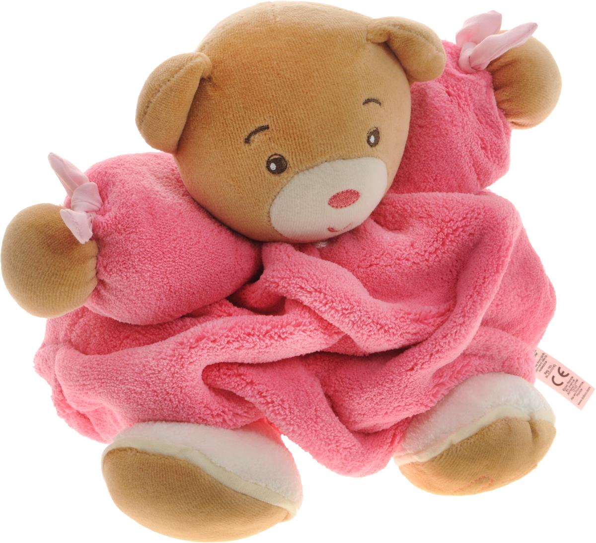 Kaloo Мягкая игрушка Мишка цвет розовый 22 смK962300Великолепный мягкий медвежонок розового цвета Kaloo привлечет внимание малыша и надолго станет его постоянным спутником и любимой игрушкой. Игрушка выполнена из качественных и безопасных для здоровья детей материалов, которые не вызывают аллергии, приятны на ощупь и доставляют большое удовольствие во время игр. Игрушку приятно держать в руках, прижимать к себе и придумывать разнообразные игры. Игры с мягкими игрушками развивают тактильную чувствительность и сенсорное восприятие.