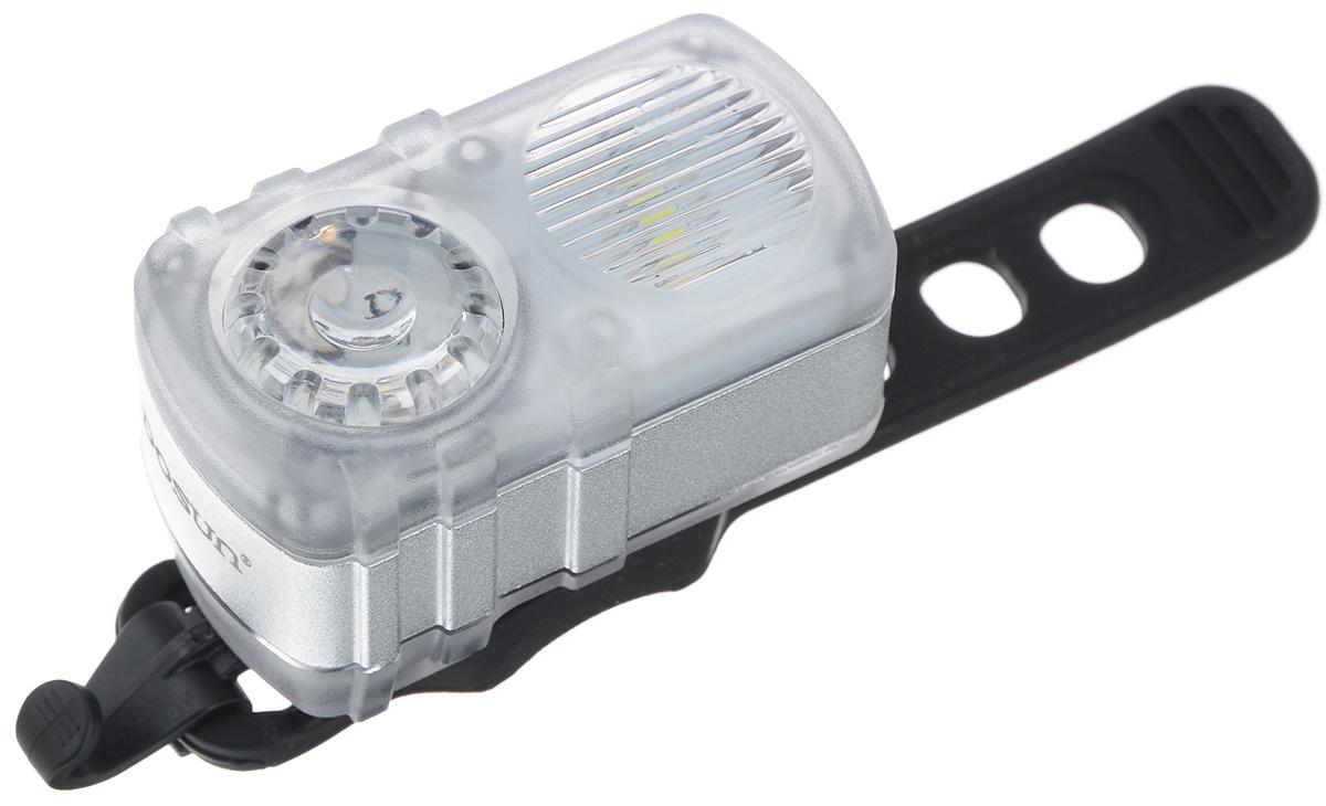 Передний габаритный фонарь Dosun DC200, с зарядкой от USBDC200/5045Передний габаритный фонарь Dosun DC200 сделает ваш велосипед более заметным в темное время суток и обеспечит безопасность на дороге. Изделие имеет прочный водонепроницаемый корпус. Благодаря силиконовому ремешку фонарь с легкостью крепится на руль велосипеда без специальных инструментов. А с помощью клипсы данный фонарь можно зафиксировать на рюкзаке или иных объектах. Яркий светодиод мощностью 35 лм работает в 4 режимах: сильное освещение, слабое освещение, одновременное мигание и поочередное мигание. Встроенный аккумулятор заряжается с помощью USB-кабеля. Емкость аккумулятора: 580 mAh Li-Polymer. Время зарядки: 2,5 часа. Диаметр штанги руля: 20-40 мм.