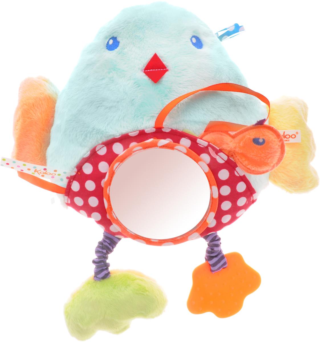 Kaloo Мягкая развивающая игрушка ПтичкаK963328Мягкая развивающая игрушка Kaloo Птичка надолго увлечет вашего малыша и обязательно станет одной из любимых игрушек, которую вы будете брать с собой на прогулку. Игрушка выполнена в виде очаровательного цыпленка с погремушкой внутри, безопасным зеркальцем и прорезывателем. Таким образом, игрушка представляет собой целый комплекс развивающих элементов, которые увлекут ребенка. С помощью текстильного крепления можно будет подвесить игрушку к коляске или автокреслу и взять с собой на прогулку или в поездку.