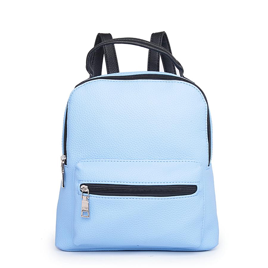 Рюкзак женский Ors Oro, цвет: голубой. D-174/11D-174/11Рюкзак с одним отделением, на молнии, один объемный передний карман на молнии. Внутренний карман на молнии, карман для телефона