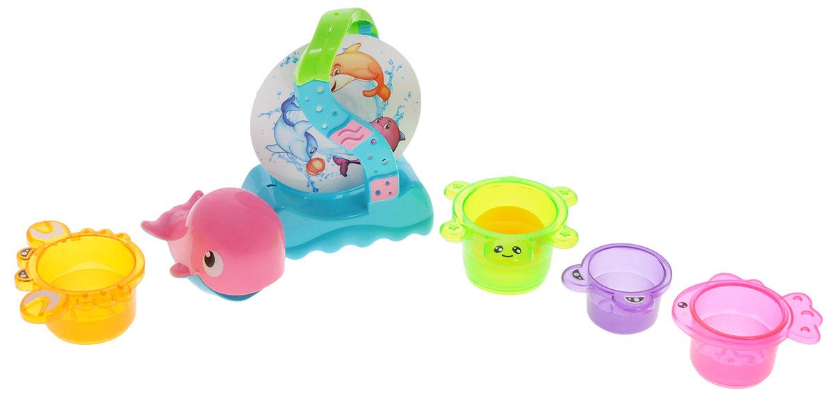 Mommy Love Набор игрушек для ванной Морские чудеса 6 шт5506Набор игрушек для ванной Mommy Love Морские чудеса превратит обычное купание в интересную игру с развивающим функционалом. В набор входят: водопад на присоске, лейка в виде дельфина, 4 формочки в виде различных животных, в одной из которых имеется водяная мельница. Игрушки способствуют развитию внимательности, мелкой моторики рук, воображения, зрительного восприятия. С таким набором малыш сможет придумать бессчетное количество веселых игр и историй, а купание превратится в настоящий праздник.