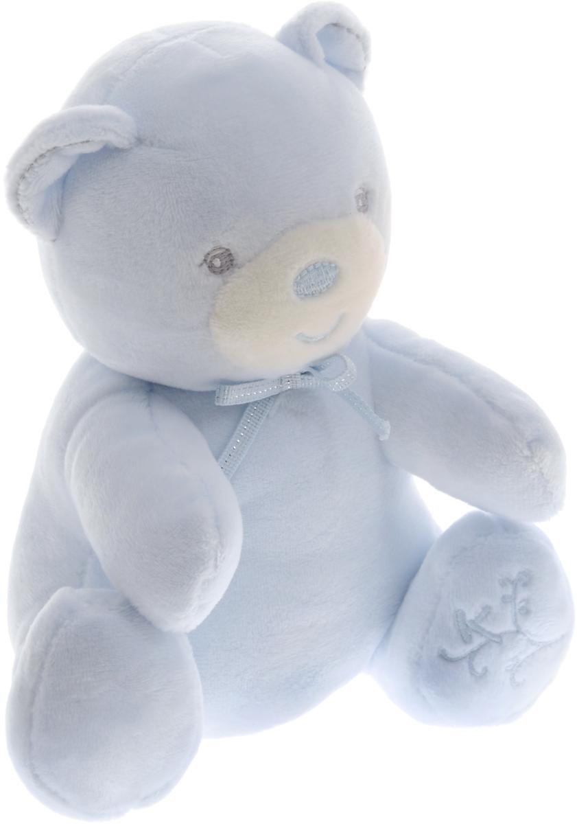 Kaloo Мягкая музыкальная игрушка Мишка цвет светло-голубой 17 смK962165Великолепный мягкий музыкальный медвежонок Kaloo надолго станет постоянным спутником малыша и позволит ему сладко уснуть. Игрушка выполнена из качественных и безопасных для здоровья материалов, которые не вызывают аллергии, приятны на ощупь и доставляют большое удовольствие во время игр. Игрушку приятно держать в руках, прижимать к себе и придумывать разнообразные игры. Игры с мягкими игрушками развивают тактильную чувствительность и сенсорное восприятие. Медвежонок выполнен в пастельном нежно-голубом цвете, лапка медвежонка украшена красивой вышивкой. На обратной стороне игрушки находится маленькая ленточка, потянув за которую, малыш услышит мелодичную колыбельную. Все игрушки Kaloo прошли множественные тесты и соответствуют мировым стандартам безопасности. Именно поэтому все игрушки рекомендованы для детей с рождения, что отличает их от большинства производителей мягких игрушек. Игрушка поставляется в стильной коробке и идеально подходит в качестве подарка.